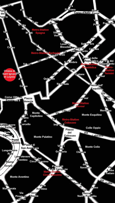 Stadtplan Rom St Ignatius